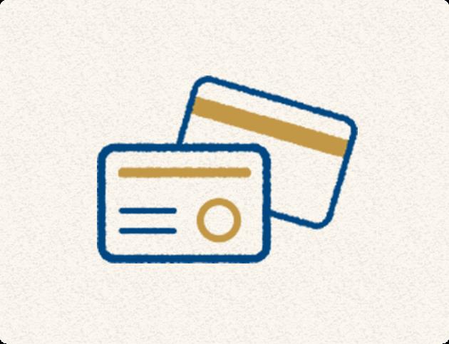 イラスト:ご利用頂けるクレジットカード